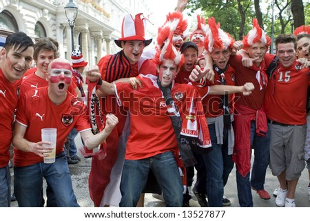 Austria fans at the euro 2008