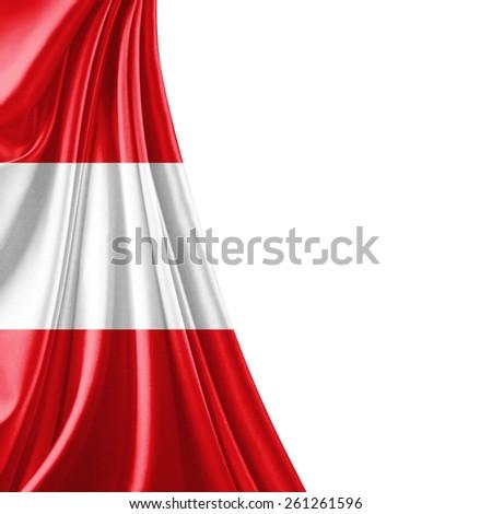 Austria flag and white background - stock photo