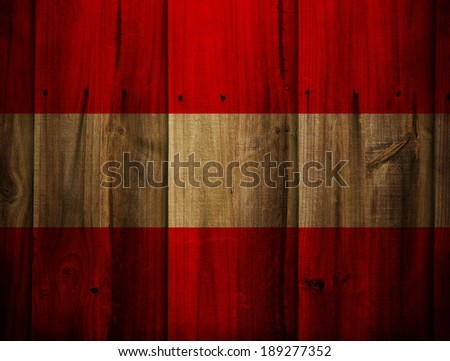 Austria flag painted on wooden fence