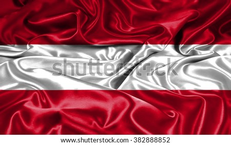 austria flag silk - stock photo