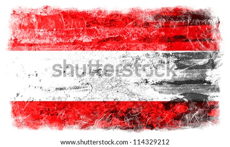 Austria grunge flag - stock photo