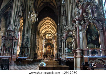 Austria's national church, St. Stephen's Cathedral, Vienna - stock photo