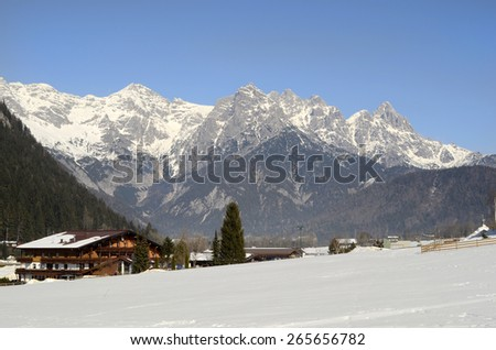 Austria, winter landscape in Tirol