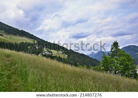 Austrian Alps-view from Castle Heinfels
