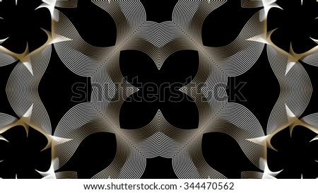 Authentic shaped lines background