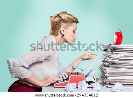 Author, Typewriter, Journalist. - stock photo
