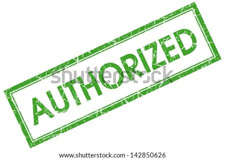 authorized stamp - stock photo