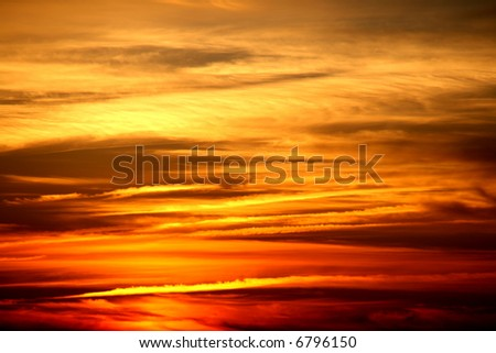autmn sunset (nice for background) - stock photo