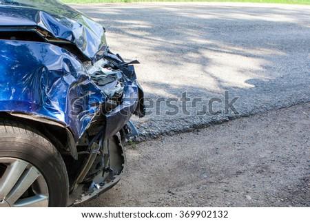 Auto accident - stock photo