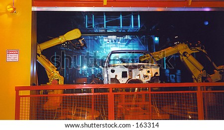 Auto Factory - stock photo