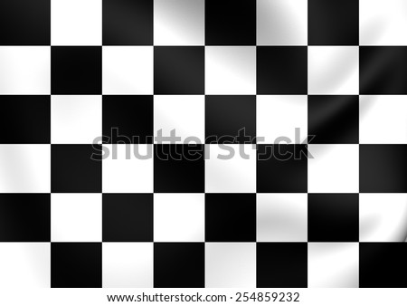 Auto Racing Chequered Flag. Close Up.    - stock photo