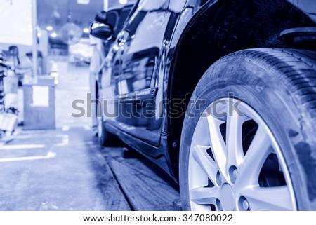 Auto repair factory - stock photo