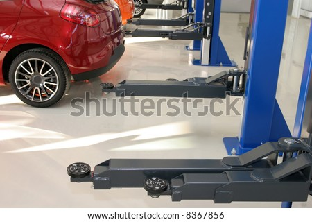 Auto repair workshop, mechanics garage