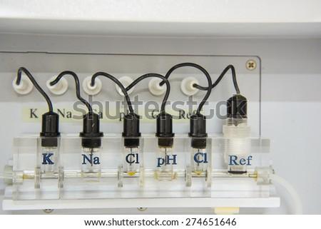 automate chemistry. - stock photo