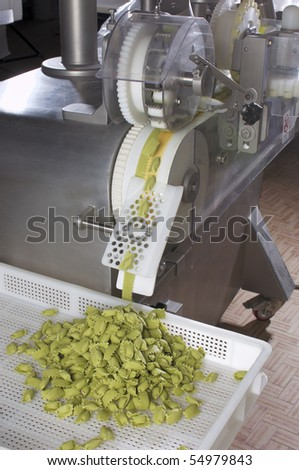 Automated food factory make fresh pasta - stock photo