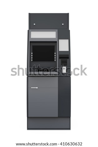 Automated Teller Machine. 3D rendering - stock photo