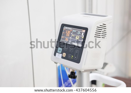 Automatic Blood Pressure Monitor in hospital