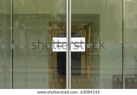 Automatic door - stock photo
