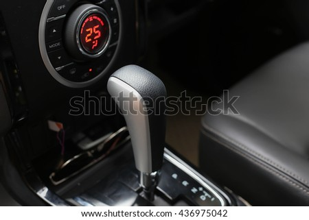 automatic gear in a modern car