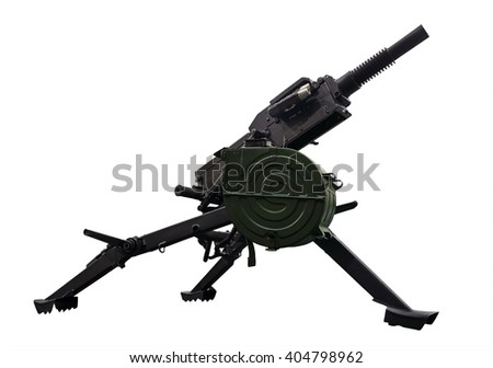 Automatic grenade launcher. Clipping path included. - stock photo