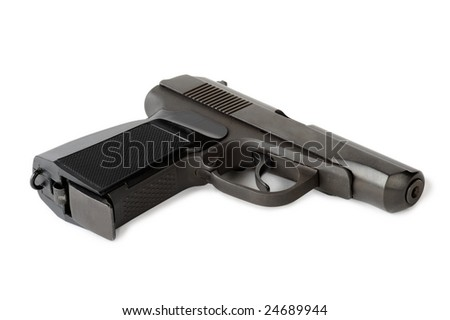 Automatic gun isolated on white