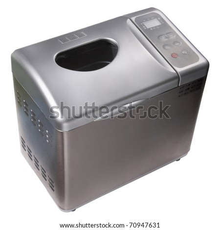 Automatic home bread machine isolated over white background - stock photo