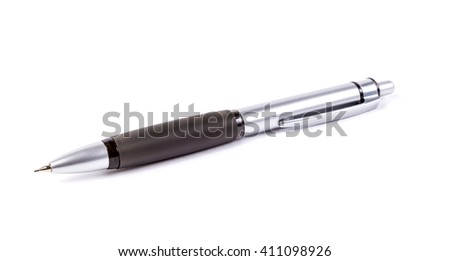 Automatic pencil isolated on white background