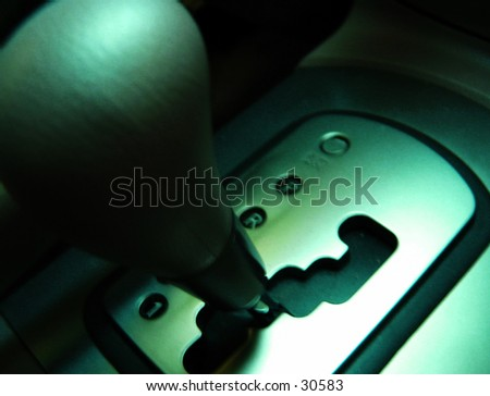 Automatic Transmission of a car - stock photo