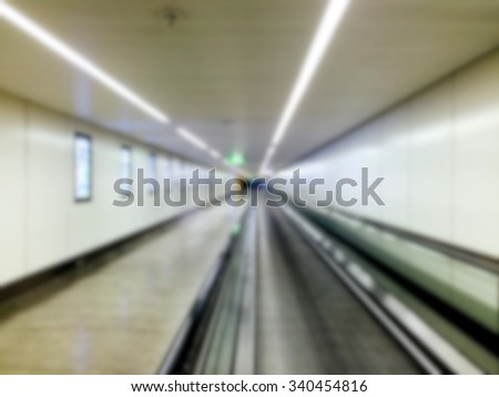 Automatic Walk way at the airport - stock photo