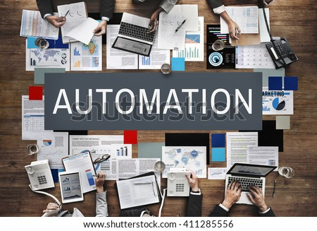 Automation Production System Operation Precess Concept - stock photo