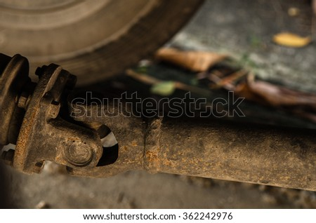 automobile  bearing and shaft seal - stock photo