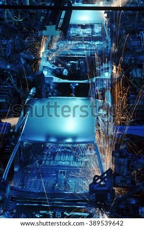 Automobile factory - stock photo