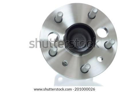 automotive hub bearing on a white background