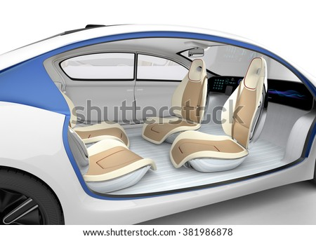 autonomous cars interior concept car offer stock illustration 381986878 shutterstock. Black Bedroom Furniture Sets. Home Design Ideas
