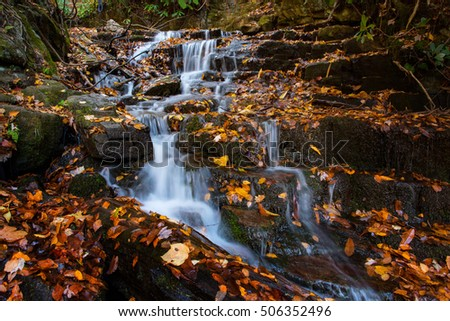 Autumn at Soco Falls Smoky Mountains National Park Tennesse and North Carolina