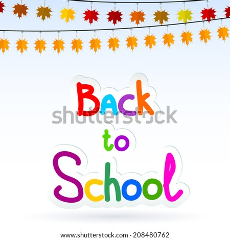 Autumn background is dedicated to the new school year. Raster copy - stock photo