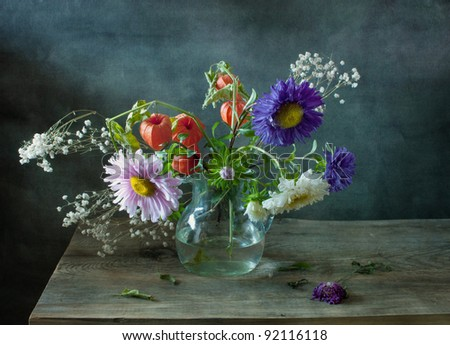 Autumn bouquet - stock photo
