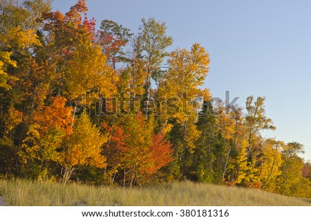 Pictured Rocks National Lakeshore In Autumn