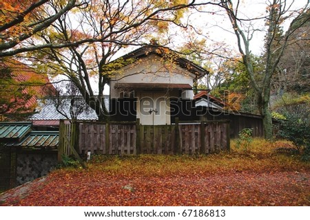 Autumn colors in osaka, Japan - stock photo