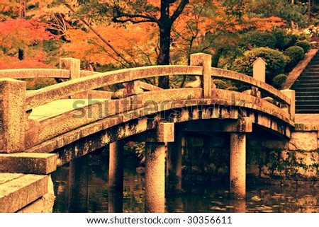 Autumn Colours in Kyoto - stock photo