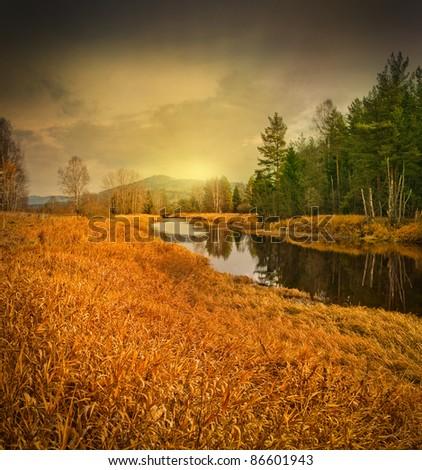 autumn day - stock photo