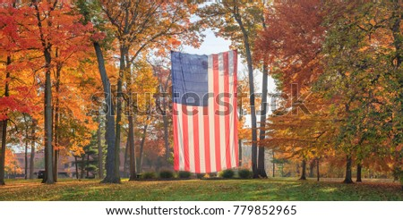 Autumn Flag Panorama Center