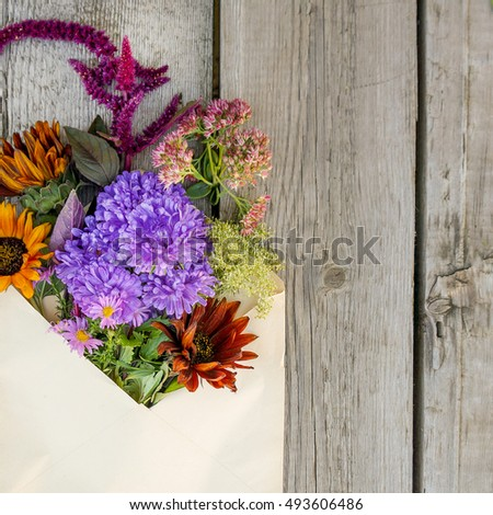 Autumn flowers. Mother's day, valentine's day, International Women's Day, congratulate