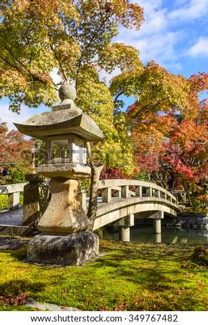 Autumn foilage at Eikando, Kyoto, Japan - stock photo