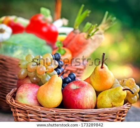Autumn fruits - fresh fruit