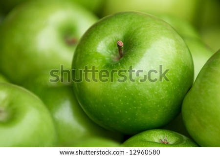Autumn Harvest. Green delicious apples