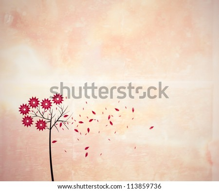 autumn - illustration - stock photo