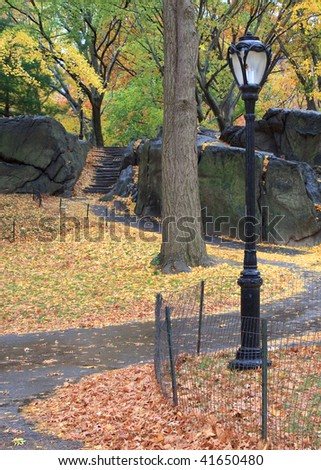 Autumn in Central Park - stock photo