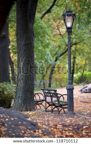 Autumn in Central Park  in Manhattan, New York City, U.S.A. - stock photo