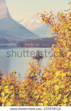 Autumn in Glacier NP,Montana - stock photo